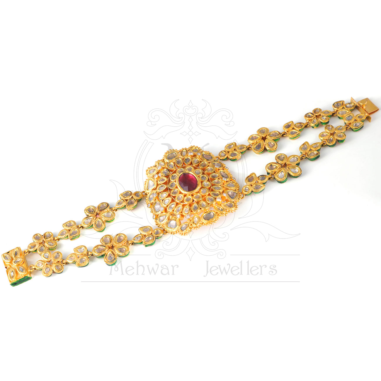 original pearl tags with golden shopping india set chain designer stone jewellery buy kundan in necklace online matching earrings